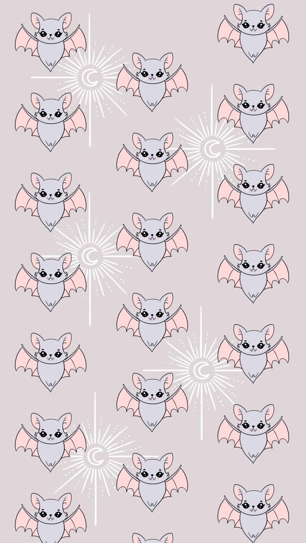Luna Bat iPhone Wallpaper
