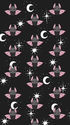 Wednesday Bat iPhone Wallpaper