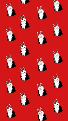 Van Fluffsing Bunny iPhone Wallpaper