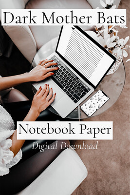 100 Pages of Batty Notebook Paper: Digital Download