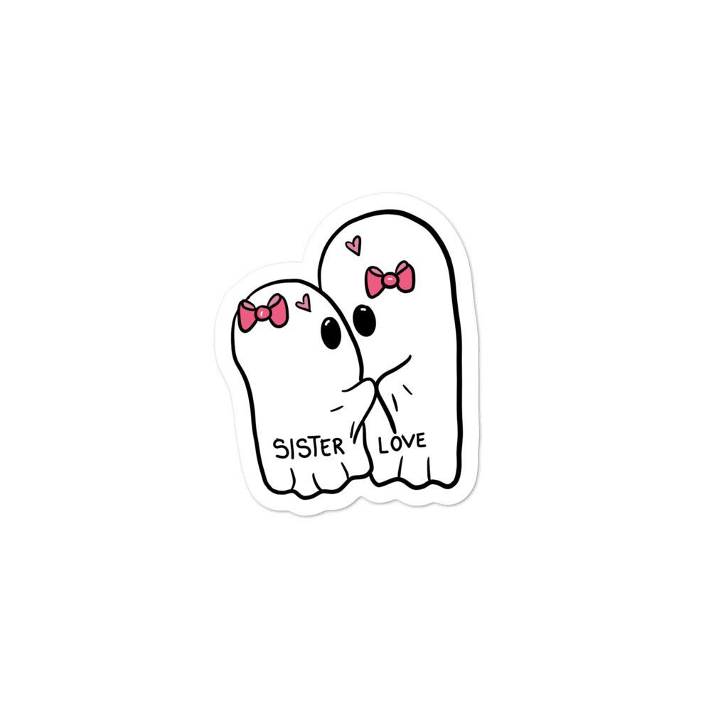 Sister Love Ghost Sticker