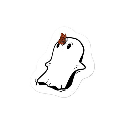 Butterfly Ghost Kisses Sticker