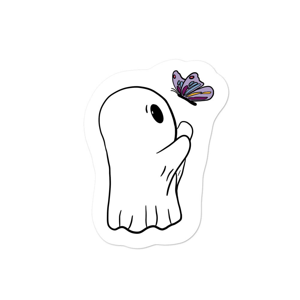 The Ghost and the Butterfly Sticker