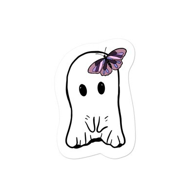 Ghost and Butterfly Thoughts Sticker