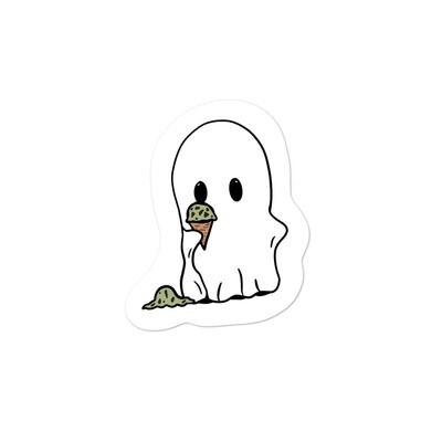 Mint Ice Cream Ghost Sticker