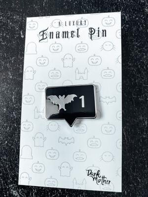 Bat Notification Enamel Pin
