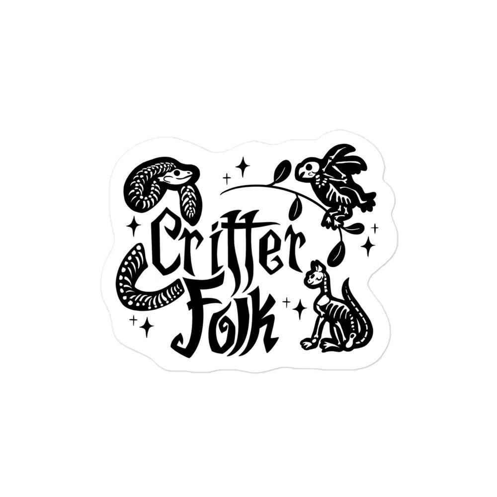 Critter Folk Sticker - Snake, Cat & Parrot