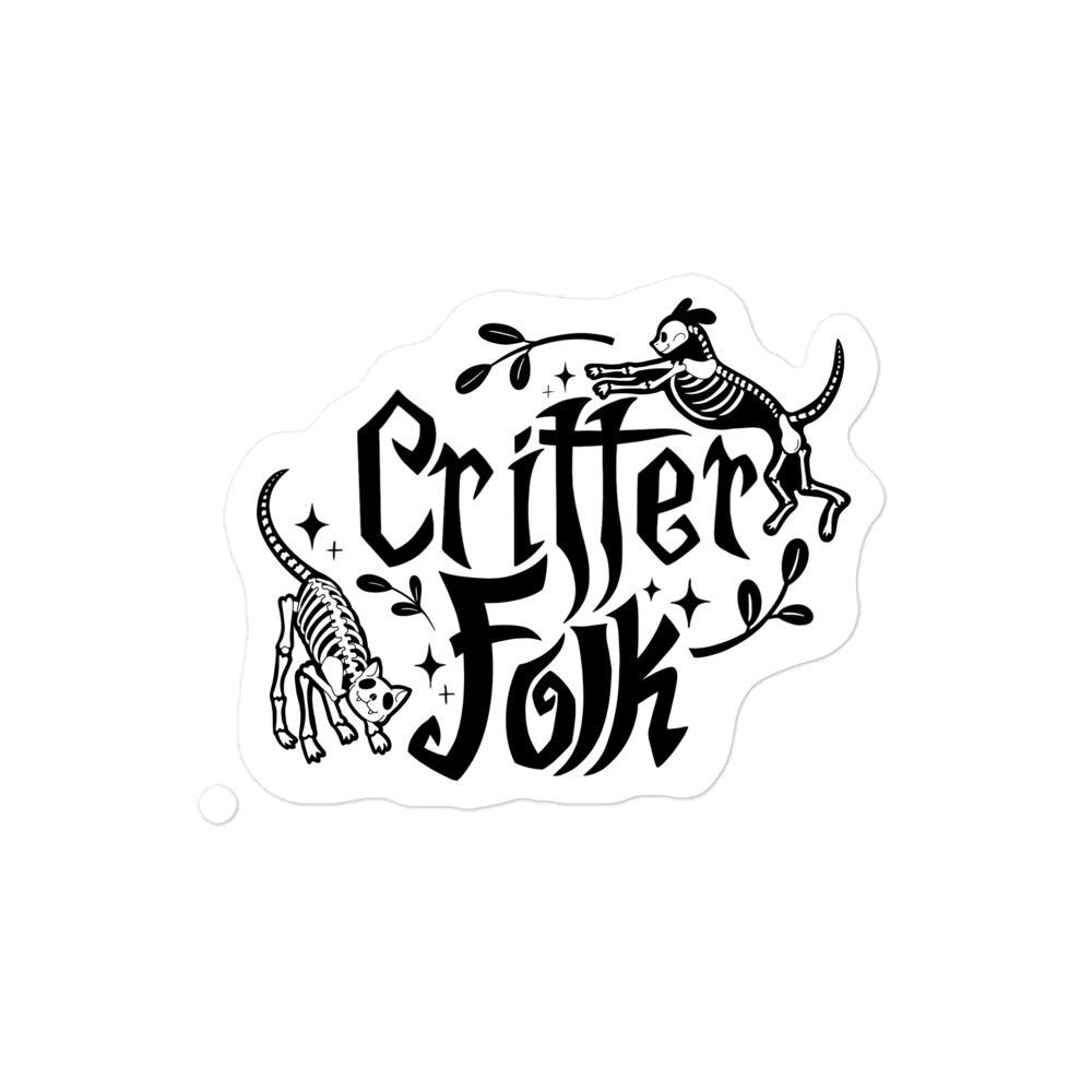 Critter Folk Sticker - Cat & Dog