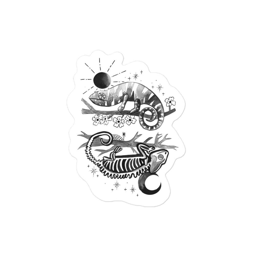 Critter Folk Sticker - Chameleon