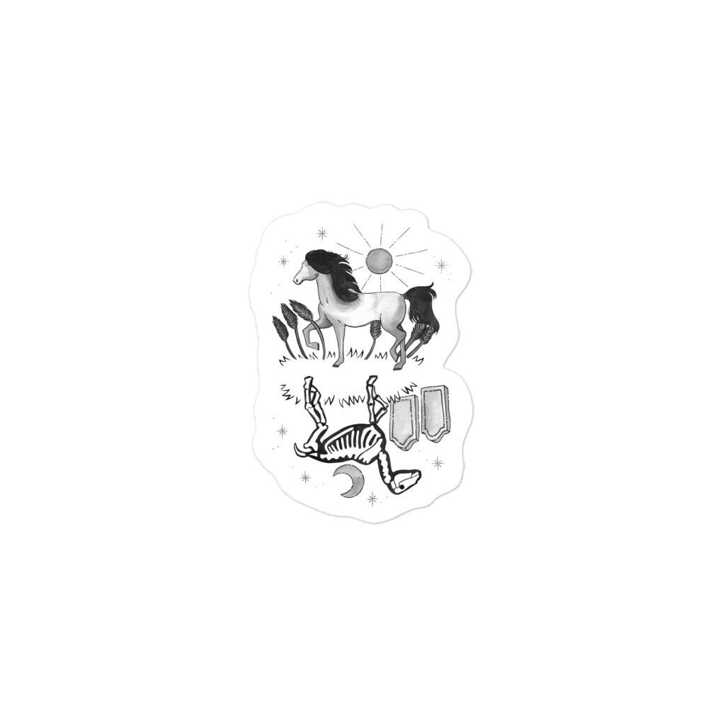 Critter Folk Sticker - Horse