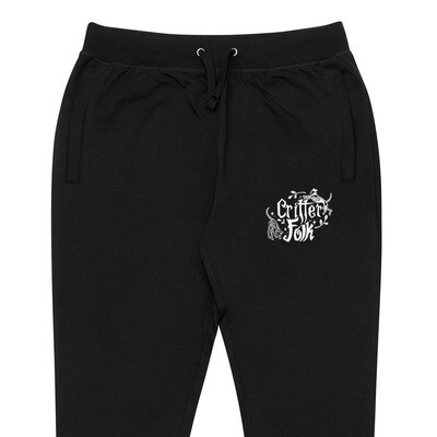 Critter Folk Embroidered Joggers - Dog & Cat