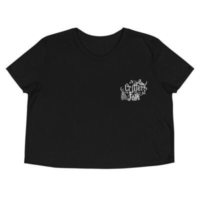 Critter Folk Embroidered Crop Top - Dog & Cat