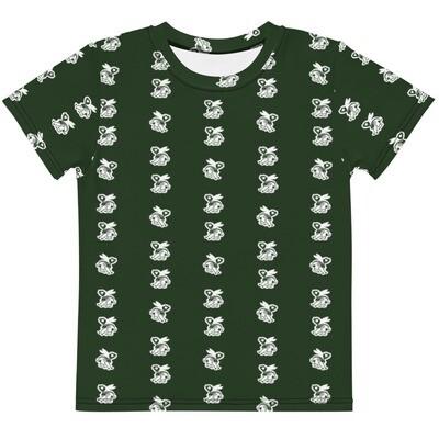 Skele-Rabbit Kids Tee (2T-7) - Green