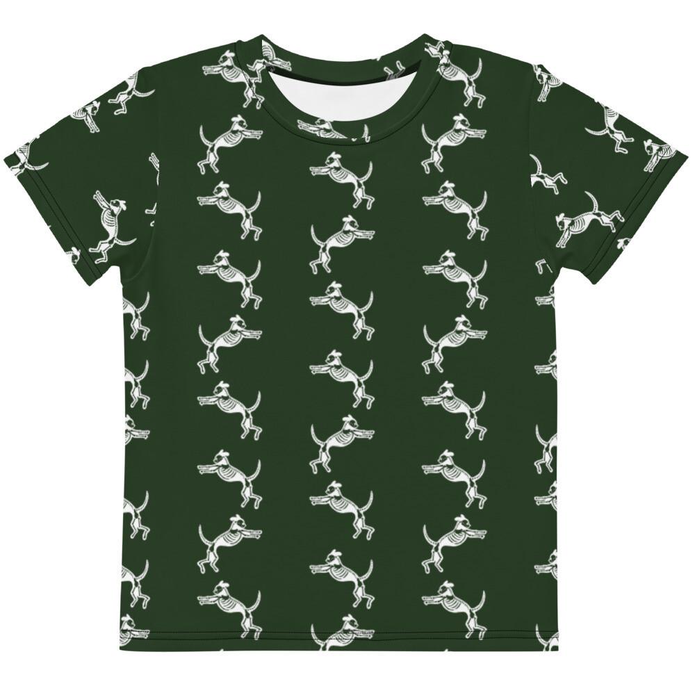 Skele-Dog Kids Tee (2T-7) - Green