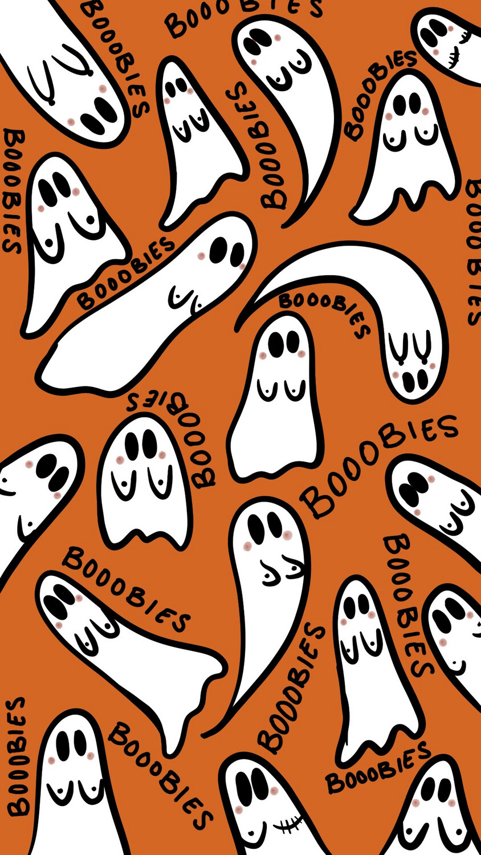 Ghost Boobies iPhone Wallpaper