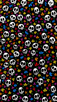 Dia De Los Muertos iPhone Wallpaper