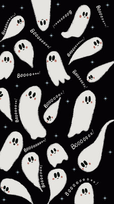 Spoopy Ghost iPhone Wallpaper
