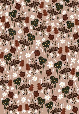 Boho Bats iPhone Wallpaper