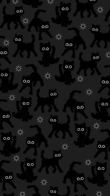 Soot Kitty iPhone Wallpaper