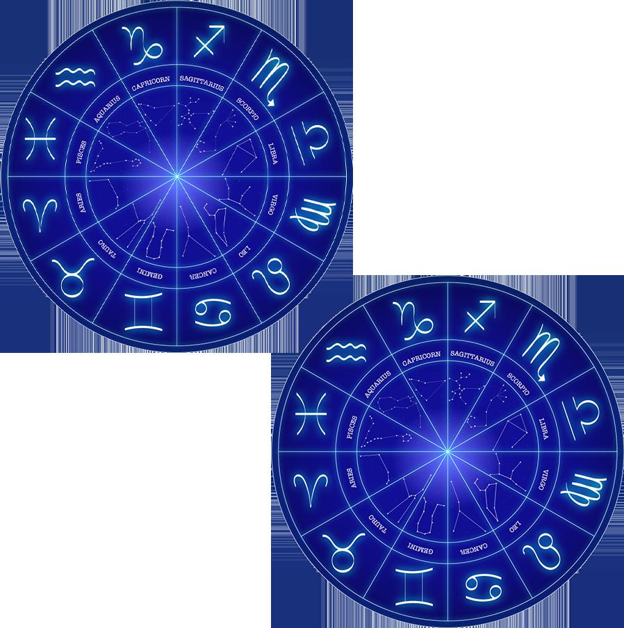 Сопоставление двух натальных гороскопов