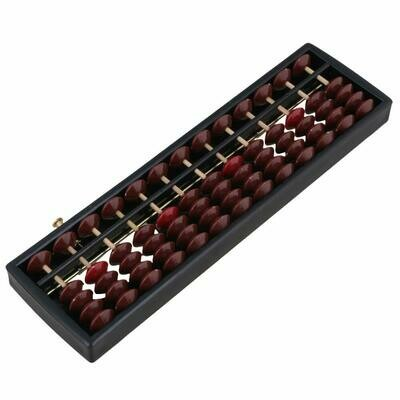 Abacus with reset button