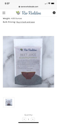 Beet Juice Powder 4 Oz