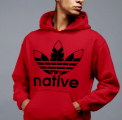 Native Style hoodie - red