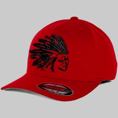 Headdress Hat flex-fit red