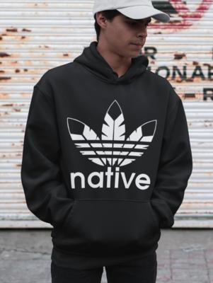 Native Style hoodie black w white logo