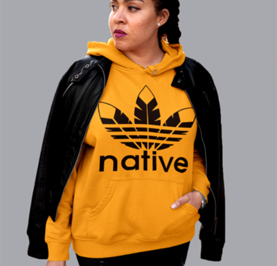 Native Style hoodie - gold