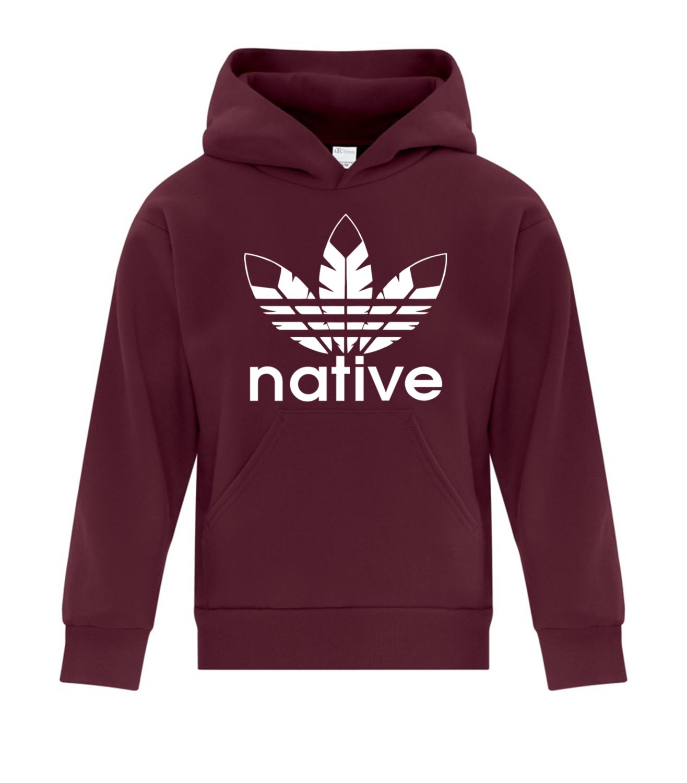 Native Style  Youth Hoodie - maroon