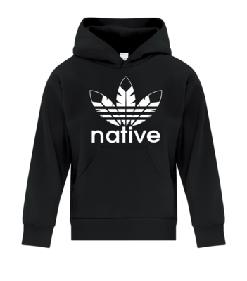 Native Style  Youth Hoodie - black
