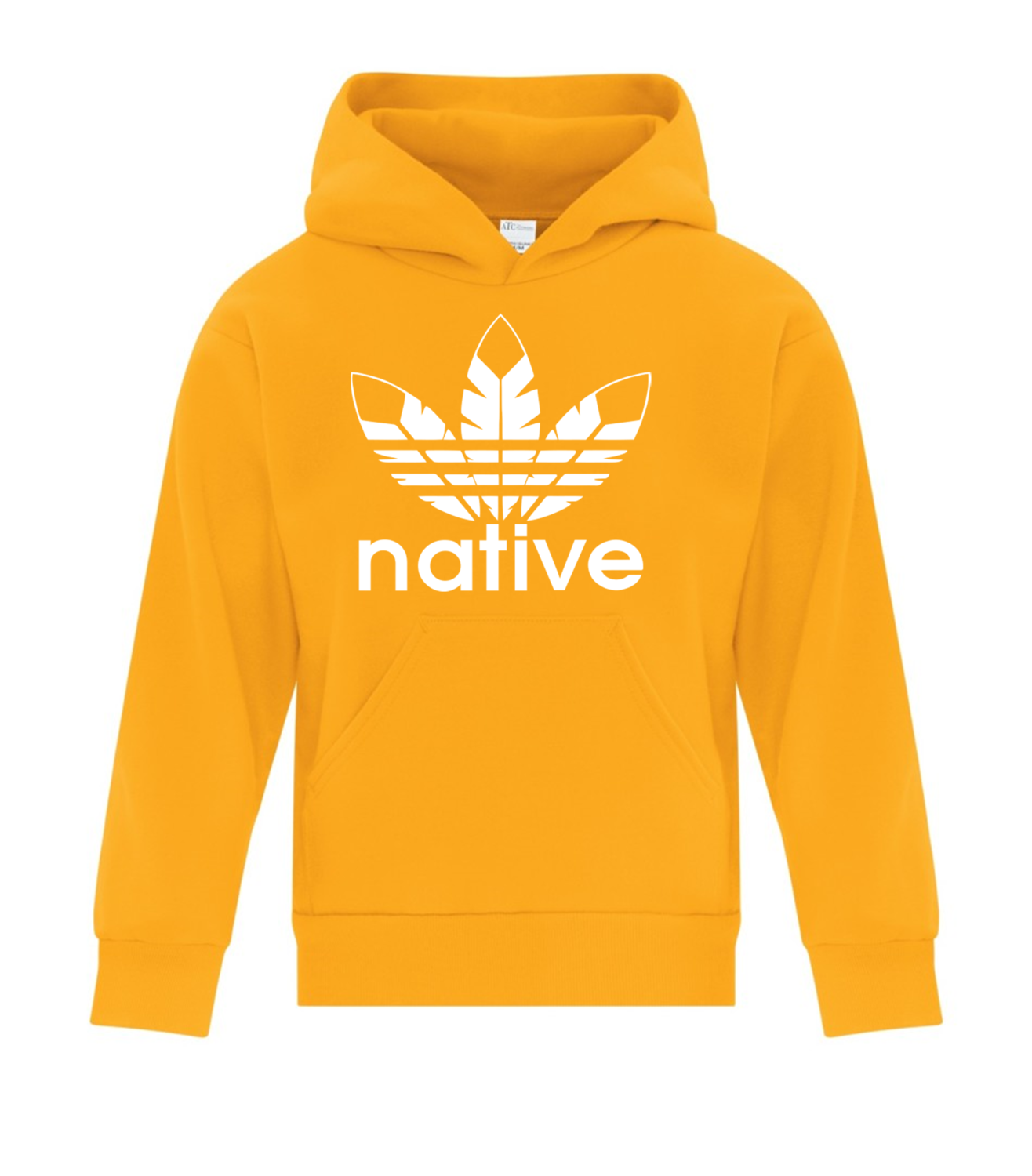 Native Style  Youth Hoodie - gold