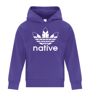 Native Style  Youth Hoodie - purple