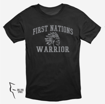 First Nations Warrior Headdress - basic tee black