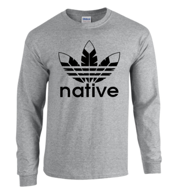 Native Style - Sport Grey Long sleeve shirt