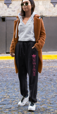 Native Style Sweatpants pink ink