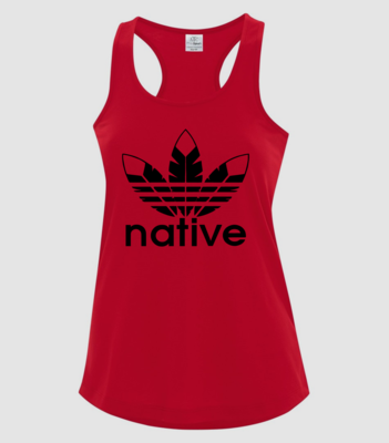Native Style 2020 racerback tank- Red