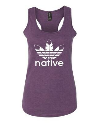 Native Style 2020 racerback tank- Heather Purple