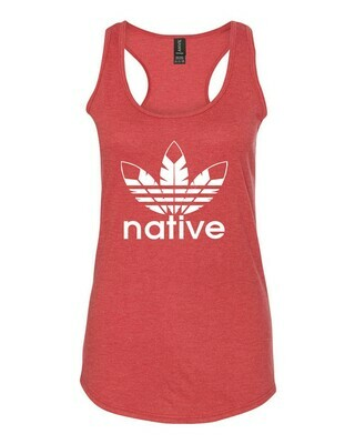 Native Style 2020 racerback tank- Heather Red