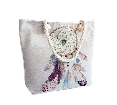 Dreamcatcher Summer Bag - light beige