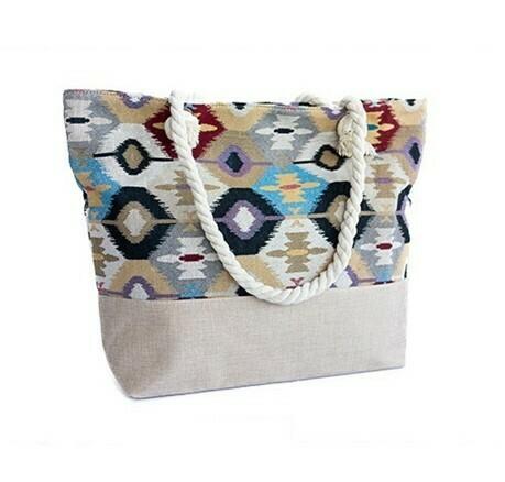 Southwestern Style Summer Bag - light beige