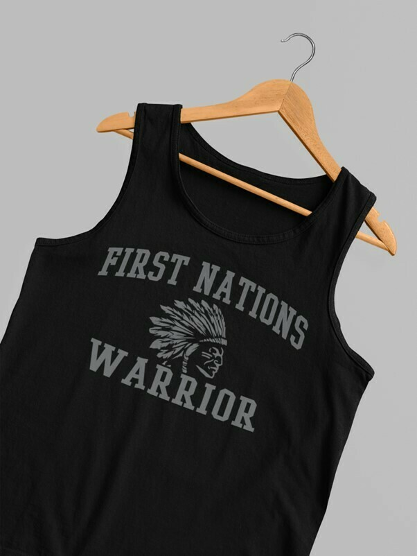 First Nations Warrior Headdress Tank Top - black