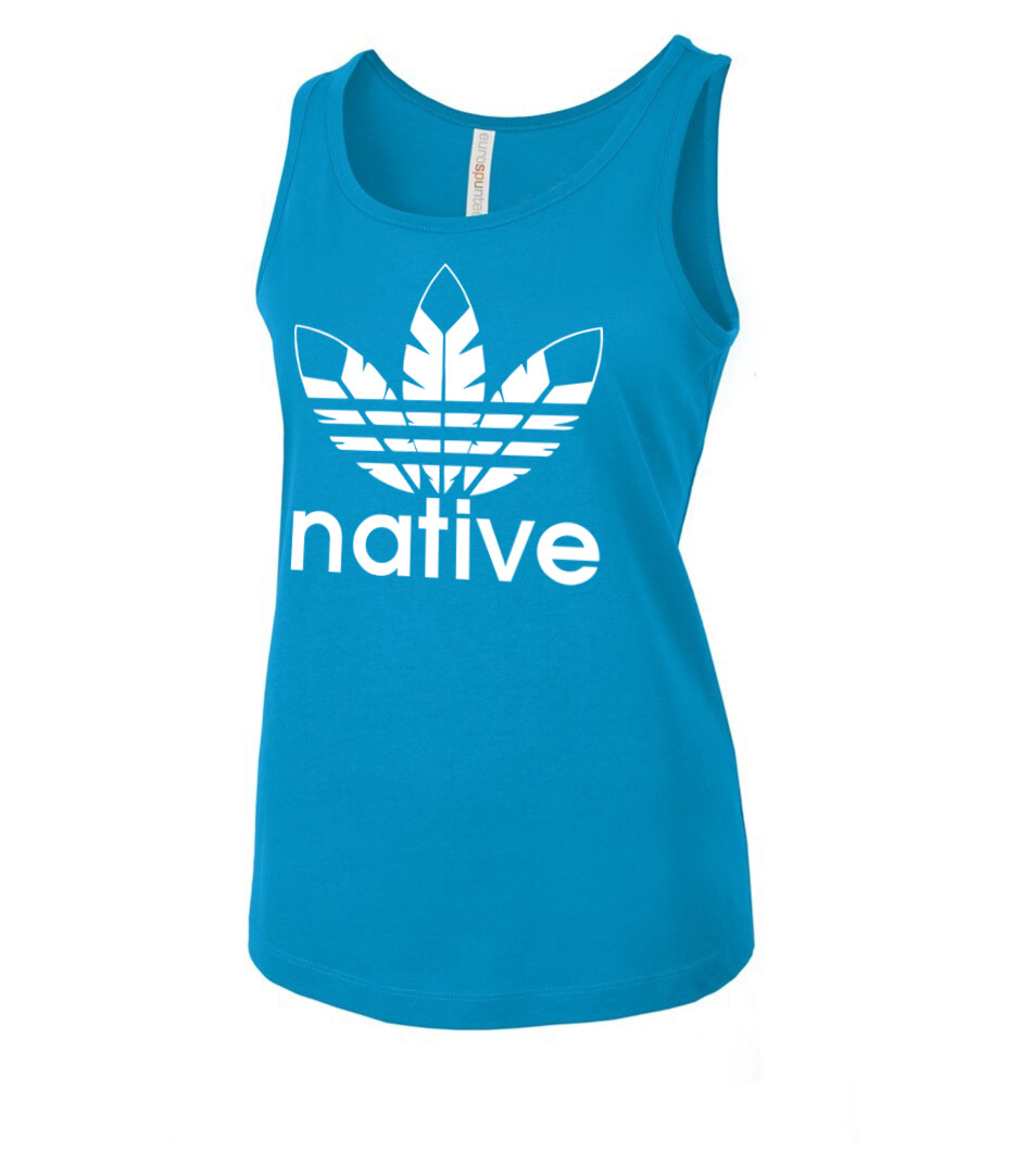 Native Style - Women's fitted tank top sapphire