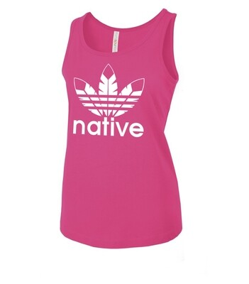 Native Style - Women's fitted tank top raspberry