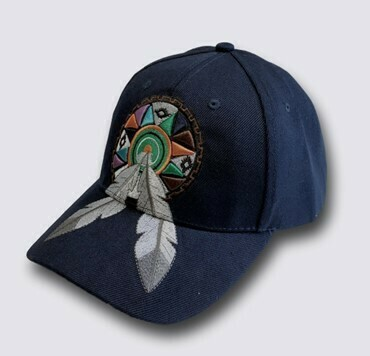 Feather hat - Navy Blue
