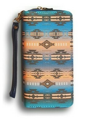 Infinity clutch wallet - Turquoise
