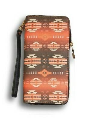 Infinity clutch wallet - Orange