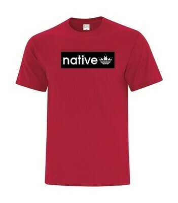 Native Style Skaterz - Basic tee Red