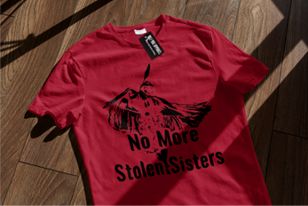 Hope -No More Stolen Sisters - Red basic fit tee